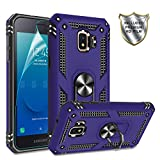 Gritup Galaxy J2 Core Phone Case, Samsung Galaxy J2/Galaxy J2 Dash/Galaxy J2 Pure Case with HD Screen Protector, 360 Degree Rotating Metal Ring Holder Kickstand Phone Case for Galaxy J2 Core Purple