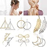 12 Pièces Pinces à Cheveux Vintage Barrettes à Cheveux en Métal Épingles à...