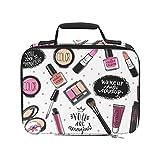 Juego de productos de maquillaje para cosméticos, bolsa más fresca para playa, aislada, a prueba de fugas, para picnic, 9.51 × 3.15 × 7.48 pulgadas, para compras de comestibles, bolsa de picnic, enfr
