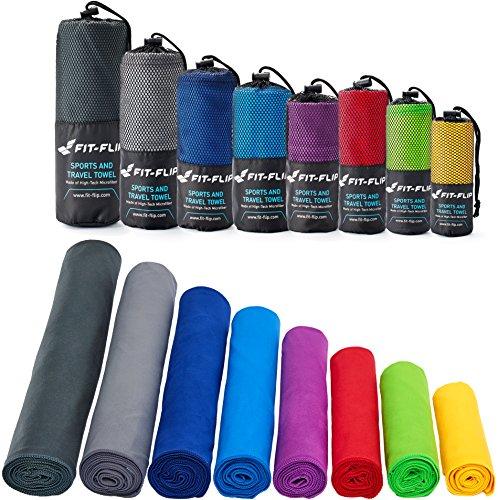 Serviette microfibre – disponible dans toutes les couleurs et en 8...
