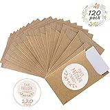 FORMIZON 120 Pcs Mouchoirs de Mariage en Papier, Mini Sac Cadeau et des Autocollants, Pochettes à Mouchoirs pour Larmes de Joie