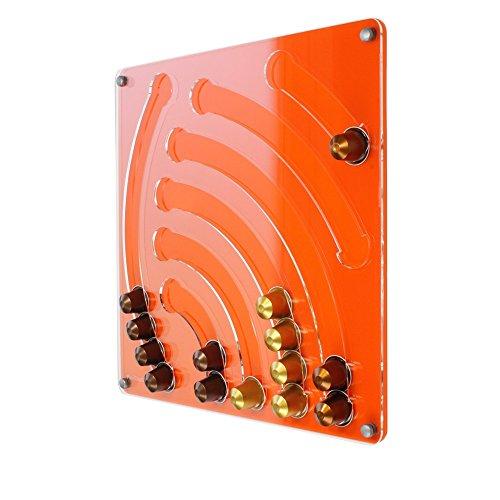 Nespresso - 41 x 40 cm da parete-portacapsule - Design cascata - colore arancione