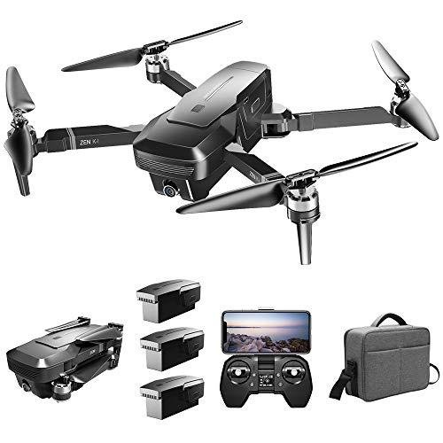 Goolsky Drone Senza Spazzola VISUO Zen K1 4K GPS con Doppia Fotocamera 120  grandangolo 5G WiFi Filtro di Bellezza Figura del Flusso optiacale Segui RC Quadcopter