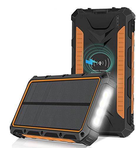 Sendowtek Solar Powerbank, 20000mAh Solar Ladegerät...