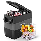 F40C4TMP 12V Portable Refrigerator Freezer for Truck 53 Quart (50L) Car Refrigerator RV...