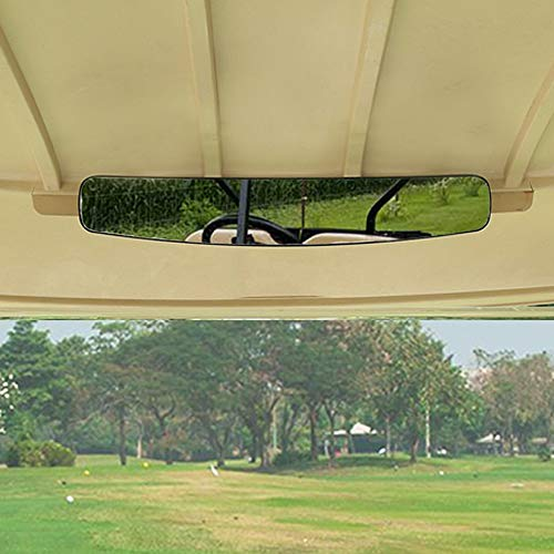 moveland [Newest] Golf Cart Rear View Mirror Without Vibration & Fall Off, 15' Wide Panoramic Mirror for EzGo, Yamaha, Club Car