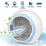 YASUOO Portable Air Conditioner, 2020 Space Air Cooler with Humidifier Air Purifier Mini Air Conditioner with 7 Colors Light Changing, 3 Fan Speed, Quiet