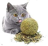 WOO LANDO Lot de 2 balles d'herbe à chat - Herbe à chat...