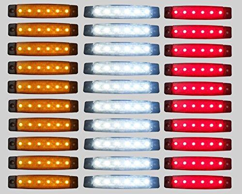 Pannello con luci SMD a 6 LED, da 24 V, di colore rosso, bianco e arancione, per luce di posizione e...