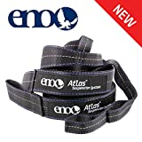 ENO - Eagles Nest Outfitters Atlas Hammock Straps, Suspension System with Storage Bag, 400 LB Capacity, 9' x 1.5/.75'