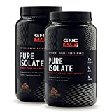 GNC AMP Pure Isolate - Chocolate Frosting, Twin Pack, 28 Servings Each, 25 Grams of Whey Protein Isolate