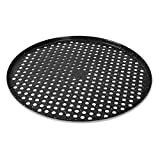 """Cook with Color Bakeware Non Stick Pizza Pan, Speckled 14"""" Pizza Cooking Tray, Pizza Heating Pan, Crisper (Black)"""