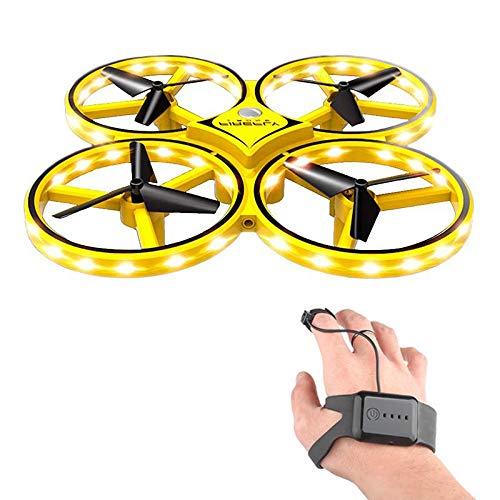 lesgos RC Drone para niños, 360 ° Giratorio Mini dron con 32 Luces LED, cuadricóptero Interactivo Infrarrojos inducción Flying Toys, Juguete de dron controlado a Mano para Regalos de niños