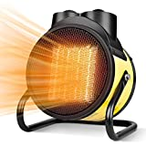 Space Heater, Electric Heater, 1500W PTC Heater Fan, 3 Modes, 3s Fast Heating, Thermostat with Overheat Protection, 90° Tilt Rotation, Portable Heaters for Indoor Use, 2 in 1 for All Year Round