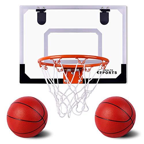 Super Joy Indoor Mini Basketball Hoop and Balls 17.8' x 14'' -...