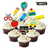 36pcs Back to School Cupcake Topper First Day of School Welcome Party Decoration School Activities Teacher Gift Classroom Decor