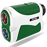 Profey Golf Rangefinder with Slope, 6X Laser Rangefinder 1500 Yards Range Finder Flag Lock with Vibration, Continuous Scan,Carrying Case, Free Battery (1500Y with Slope)