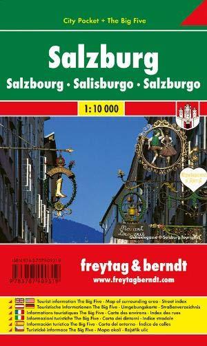 Salzburgo, plano callejero palstificado. Escala 1:10.000. Freytag & Berndt.: Stadskaart 1:10 000