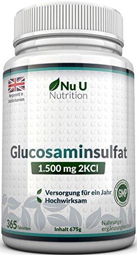 Nu U | Glucosaminesulfaat | 1.500 mg 2KCI | 365 tabletten glucosamine