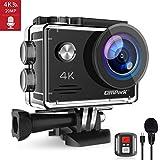 Campark 4K 20MP Action Cam con EIS Telecomando Microfono Esterno WiFi Videocamera