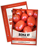 Roma VF Tomato Seeds for Planting Heirloom Non-GMO Seeds for Home Garden Vegetables Makes a Great Gift for Gardening by Gardeners Basics