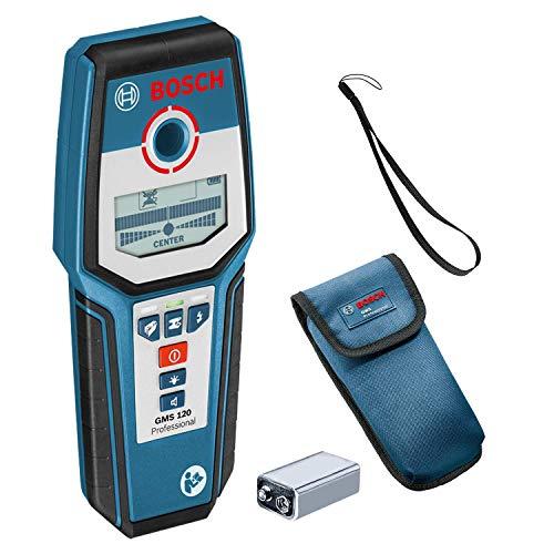Bosch Professional GMS 120 Rilevatore Digital, 9 V, Profondit di Rilevamento Massima Legno/Metallo...