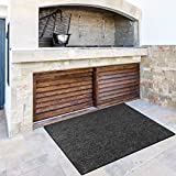 Fireproof Fireplace Hearth Rug Non Slip Protection Mat Flame Resistant Pad for Fireplace, Stove Protection