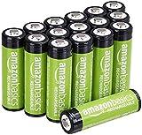 AmazonBasics Piles rechargeables AA, pré-chargées - Lot de 16 (le visuel...