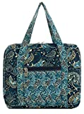 DIWI Quilted Bible Cover Extra Large Sizes 11.25 X 8.25 X 2.75 Inches Bible Tote Good Book Case (XL, C2 Royal Blue)