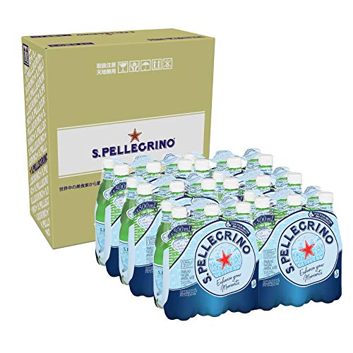 サンペレグリノ(S.PELLEGRINO) 炭酸入りナチュラルミネラルウォーター PET 500ml×36本[直輸入品]