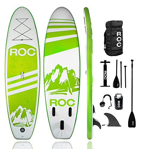 Roc Inflatable Stand Up Paddle Board with Premium sup Accessories...