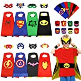 Superhero Capes for Kids, 8PCS Superhero Capes Set With Waist Belt And Wristband Perfect Boys Cartoon Dress up Costumes Include Storage Bag Best Superhero Costumes For Cosplay Festival Party Supplies