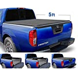 Tyger Auto Black T1 Soft Roll Up Truck Tonneau Cover for 2005-2020 Nissan Frontier 2009-2014 Suzuki Equator Fleetside 5' Bed TG-BC1N9034