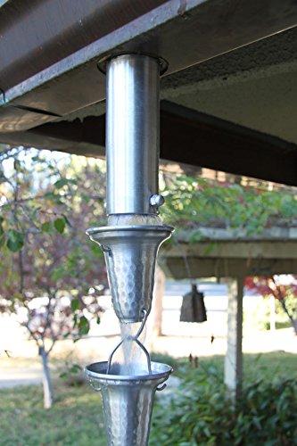 \'Verbindung aus Aluminium-Kette Regen A Dachrinne H 6Recht