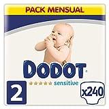 Dodot Pañales Bebé Sensitive Talla 2 (4-8 kg), 240 Pañales, Óptima...