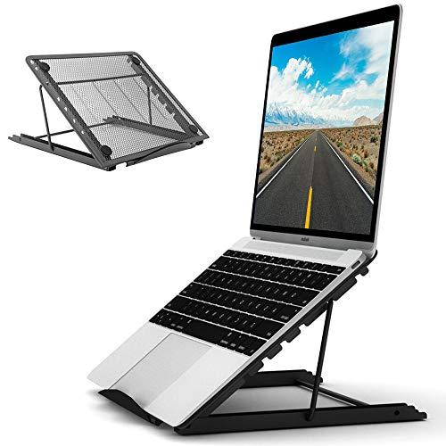 Enllonish Laptop Ständer, Multi-Winkel Verstellbar, Höhe Einstellbar, Faltbar rostfreier Stahl Tablet Halterung Stand Halter für 10-17 Zoll Notebook/iPad Air/Mini/MacBook