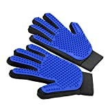 LuxPal Pet Grooming Glove Deshedding Gentle Dog Hair Remover Brush Comb and Cat Brush Mitt for Shedding - Massager Glove – Horse Brushes - Removes Tangles and Dirt for Long & Short Fur Coats - 1 Pair
