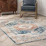 nuLOOM Derya Persian Vintage Area Rug, 4' x 6', Blue