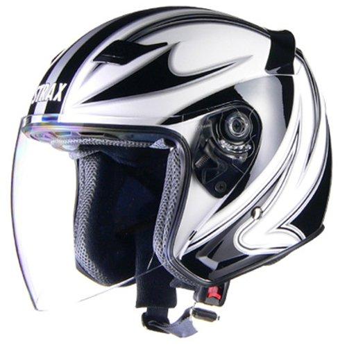 リード工業(LEAD) バイクヘルメット ジェット STRAX ホワイト L SJ-9 -