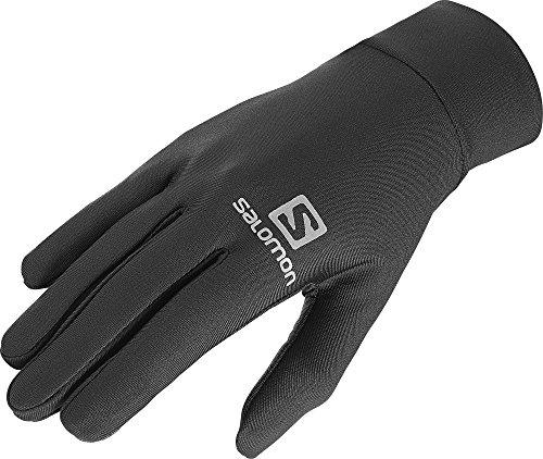 Salomon Unisex Leichte Lauf-Handschuhe, Touchscreen kompatibel, AGILE GLOVE U, Schwarz, Gr. L, L39014400