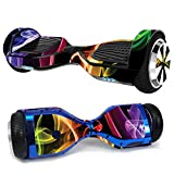 MightySkins Skin Compatible with Hover-1 H1 Hoverboard Scooter - Bright Smoke | Protective, Durable,...