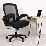 Flash Furniture Big & Tall Office Chair | Black Mesh Executive Swivel Office Chair with Lumbar and Back Support and Wheels, BIFMA Certified