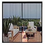 Magnetic Screen Door 72 x 83 inch, CHUSSTANG Heavy Duty French Door Mesh Curtain Magnet Patio Door Cover Auto Closer Sliding Door Screen Door with Full Frame Hook and Loop Keep Bugs Out