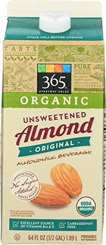 365 Everyday Value, Organic Almondmilk Unsweetened, 64 fl oz