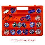 Life Made Better Red Toy Organizer 2.0 Case, More Durable, Built in Handle, Toy Storage Carrying Case Compatible with Beyblade, Battle Box for Kids, Strengthened Compartment Playset Organizer