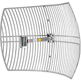 SimpleWiFi Ultra Long Range WiFi Extender G2424 Directional Parabolic Grid (High-Speed Signal Booster) Outdoor Antenna