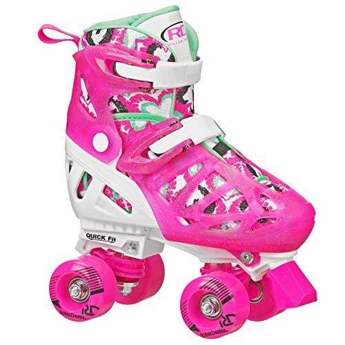Roller Derby Girl's Fun Roll Adjustable Roller Skate, Medium
