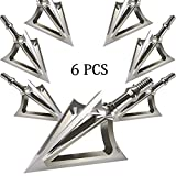JIANZD Archery Broadheads 100 Grain Fixed Blades Stainless Steel Hunting Broadheads for Crossbow Recurve Bow and Compound Bow-X1