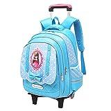 Mochilas, maletas con ruedas para niñas, mochilas escolares para niñas, mochilas con ruedas para niños-skyblue2