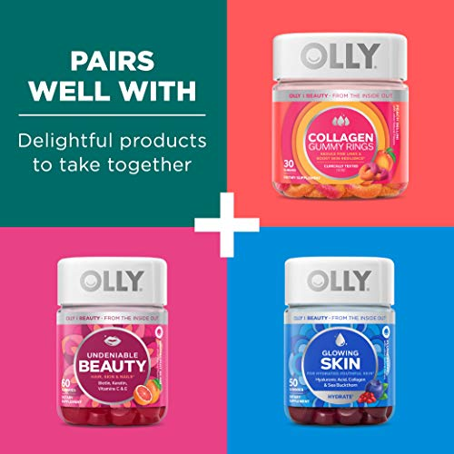 OLLY Flawless Complexion Gummy, 25 Day Supply (50 Count), Berry Fresh, Vitamins E, A, Zinc, Chewable Supplement 7